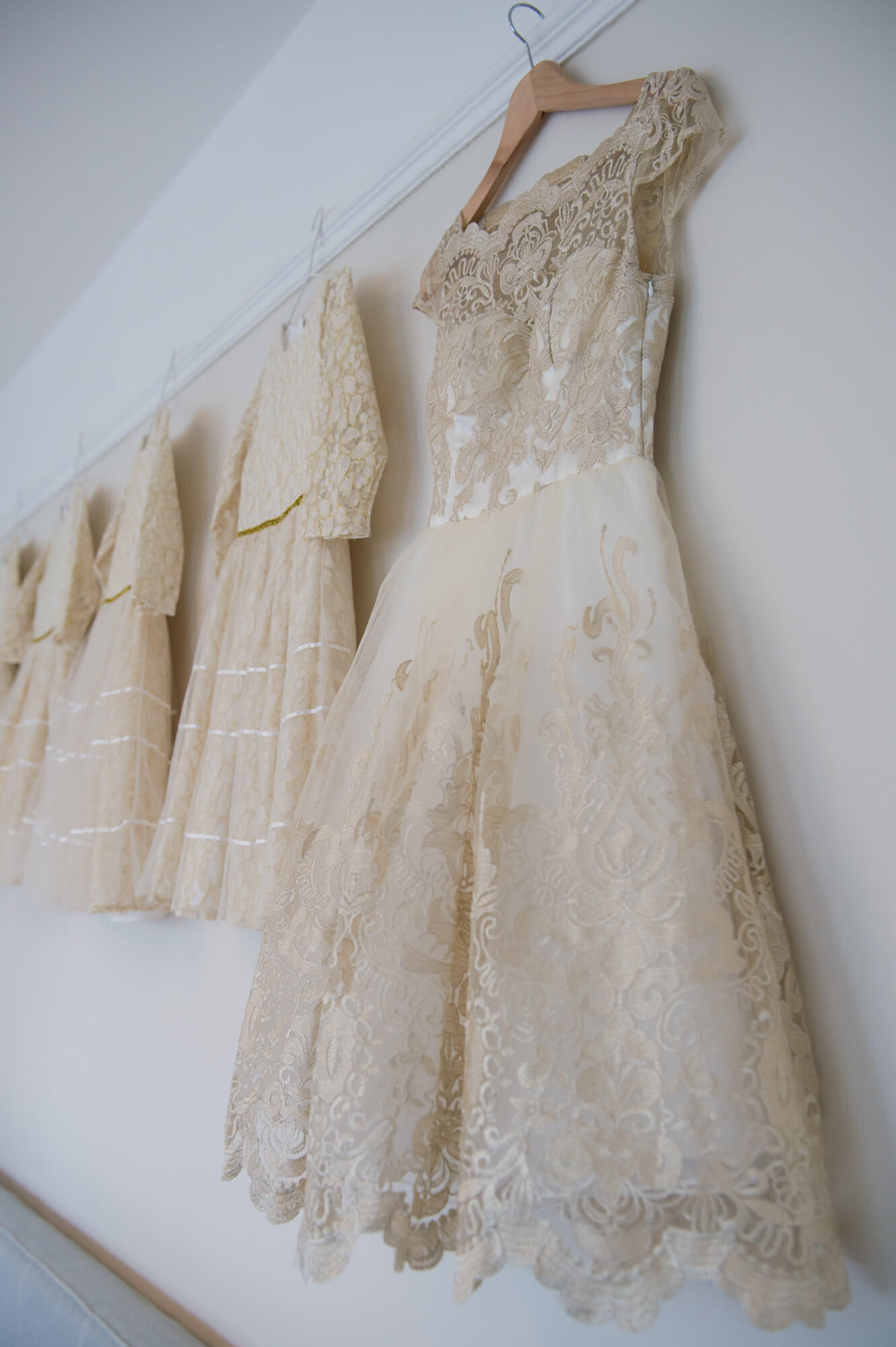 monsoon flower girl dresses hanging up before the wedding in london