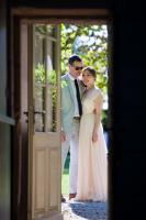 a couple have just got married at chateau rigaud wedding venue in france