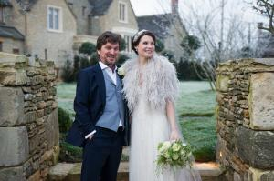 winter wedding photograph by especially amy at thyme house in southrop cotswolds