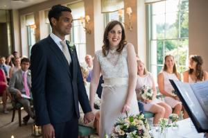 wedding ceremony in the orangery at babington house photographed by especially amy